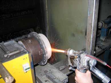 Восстановление с упрочнением цилиндрических поверхностей методом газотермического напыления
