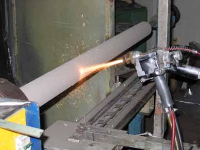 Газопламенное напыление штока гидроцилиндра путевой машины