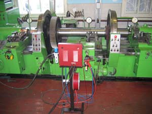 Оборудование для создания участка по восстановлению осей колесных пар локомотивов газотермическим напылением