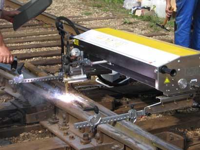 Комплекс для ремонта быстроизнашиваемых элементов стрелочного перевода механизированным и автоматизированным способом