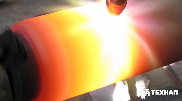 Газопламенное напыление. Оплавление покрытия.