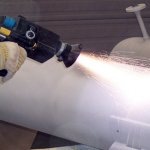 Электродуговая металлизация. Нанесение алюминиевого покрытия